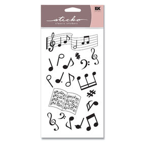 Musical Notes Silhouette Classic Stickers_SP00SLTT20