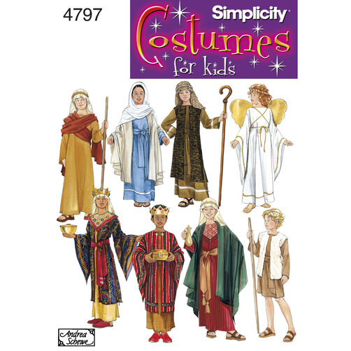 Simplicity Pattern 4797 Boy's & Girl's Nativity Costumes