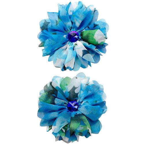 Watercolor Blue Flower Embellishments_50-50606