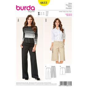 Burda Style Pattern 6613 Pants