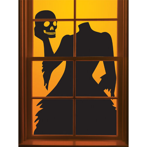 Gothic Manor Headless Woman Window Cling_48-20256