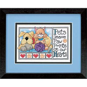 Paw Prints, Stamped Cross Stitch_06931