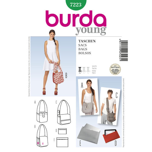 Burda Style Pattern 7223 Bags