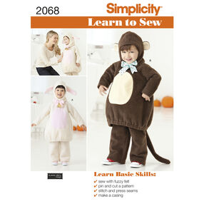 Simplicity Pattern 2068 Learn to Sew Toddler's Costumes
