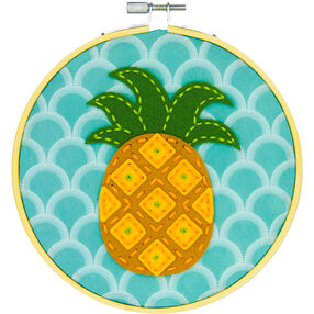 Golden Pineapple, Felt Appliqué_72-75112