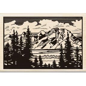 Mountain Vista Wood Stamp_60-00973