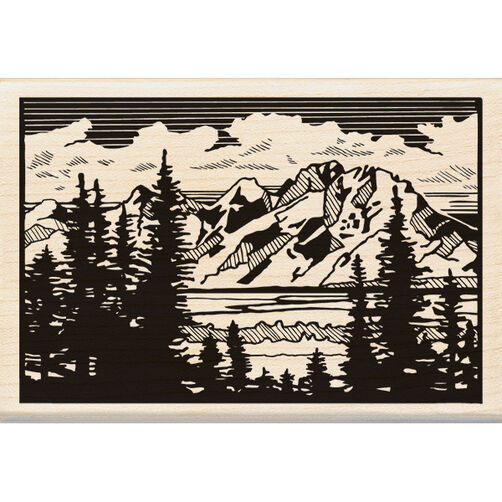 Mountain Vista Wood Stamp_60-00973