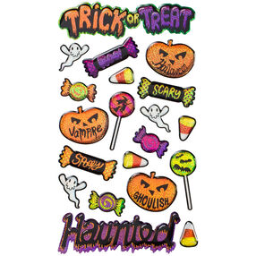 Scary Halloween Icons Stickers_52-20186