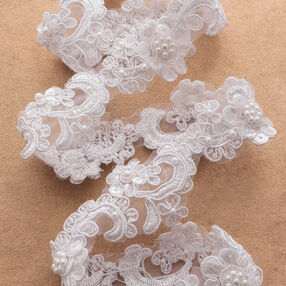 """1-3/4"""" Flower Scroll with Pearls"""