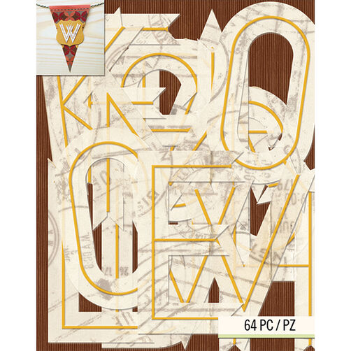 Tim Coffey Travel Alphabet Die-Cut Cardstock_30-681798