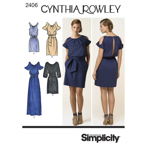 Simplicity Pattern 2406 Misses' Dresse, Cynthia Rowley Collection