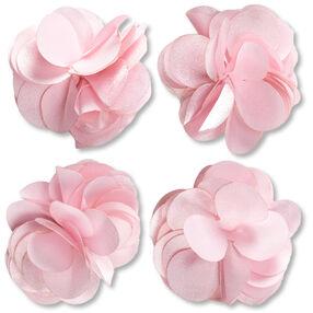 Pink Satin Flower Embellishments _50-60371