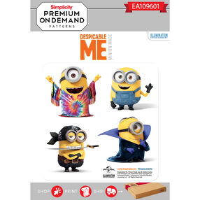 Simplicity Pattern EA109601 Premium Print on Demand Child Despicable Me Costumes