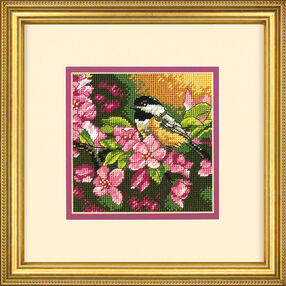 Chickadee in Pink, Needlepoint_71-07244