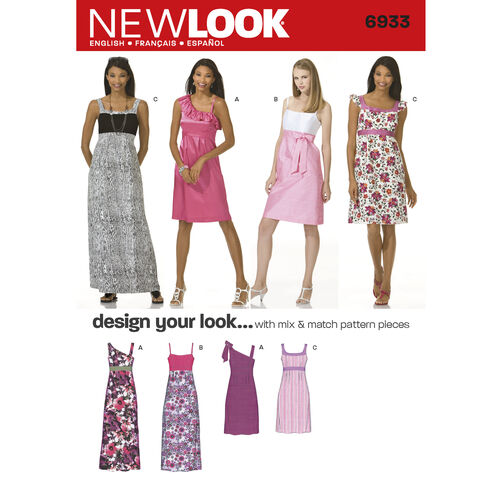 New Look Pattern 6933 Misses Dresses