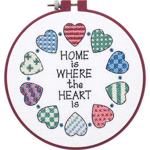 Home and Heart, Stamped Cross Stitch_72408