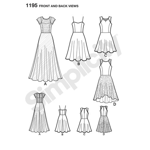 Pattern for Misses and Miss Petite Special Occasion Dress