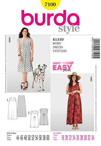 Burda Style Pattern 7100 Dress