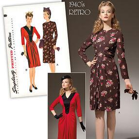 Misses' 1940's Vintage Dress