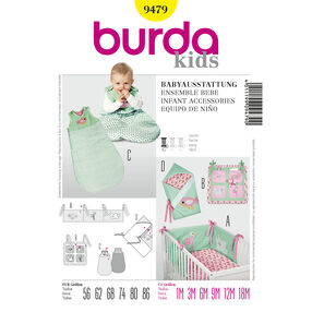 Burda Style Pattern 9479 Infant Accessories