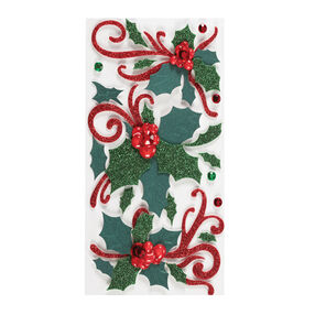 Flourishes and Holly Dimensional Stickers_50-50416