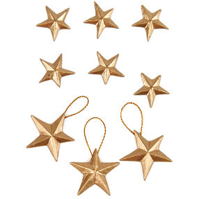Gold Leaf Vintage Star Embellishments_50-00557