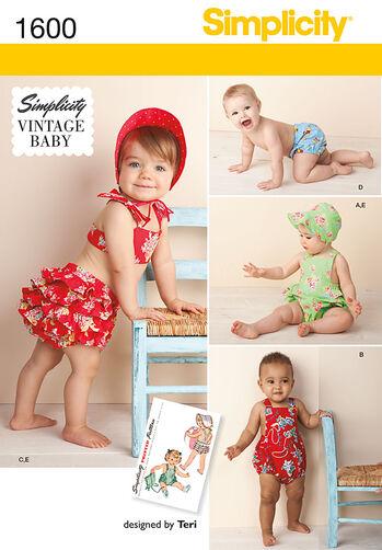 Babies' Vintage Romper Set