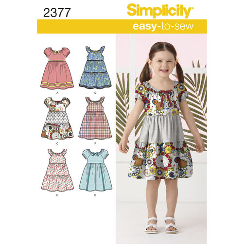 Simplicity Pattern 2377 Child's Dresses