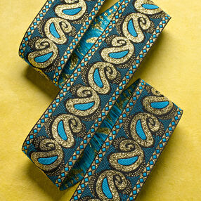 "1-3/8"" Paisley Band with Metallic"