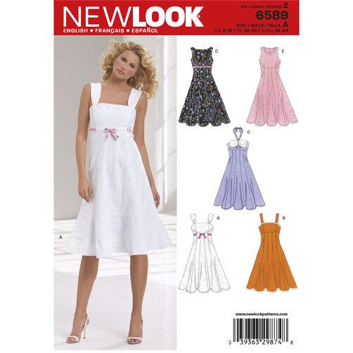 New Look Pattern 6589 Misses Dresses