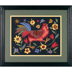 Rooster on Black, Embroidery_01543