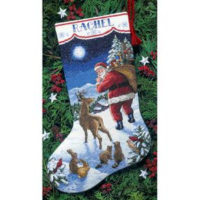 Santa's Arrival Stocking, Counted Cross Stitch_08683