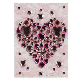 Large Heart Gemstone Sticker_41-09031