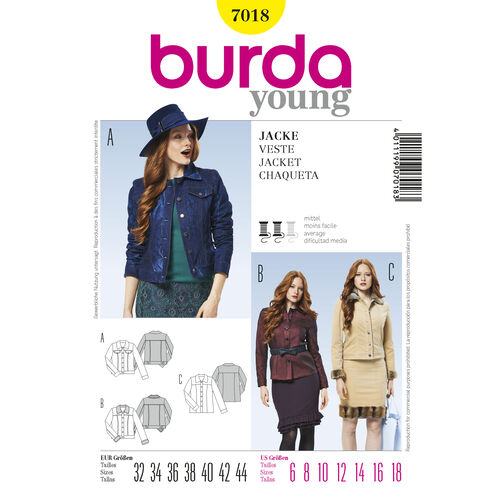Burda Style Pattern 7018 Jacket