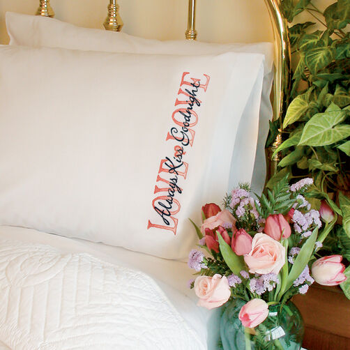 Always Kiss Goodnight Pillow Cases, Stamped Cross Stitch_72-73550