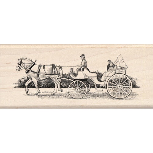Carriage Ride Wood Stamp_60-00869