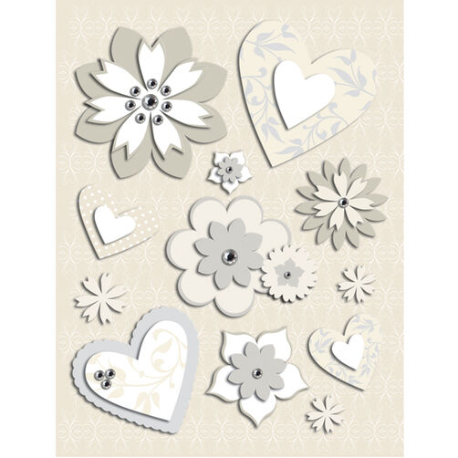 Elegance Hearts & Flowers Grand Adhesion  _30-302563