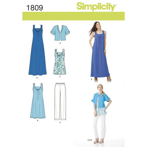 Simplicity Pattern 1809 Misses' & Plus Size Sportswear