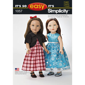It's So Easy Pattern 1057 18 inch Doll Clothes