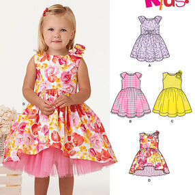 Toddlers' Dress with Length Variations