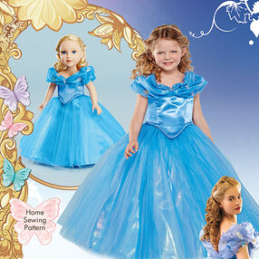 "Disney Cinderella Costume for Child and 18"" Doll"
