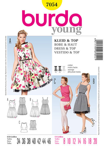 Burda Style Pattern 7054 Dress & Top