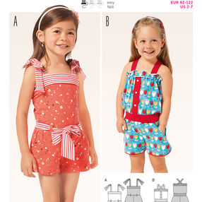 B9387 Toddlers' Jumpsuit