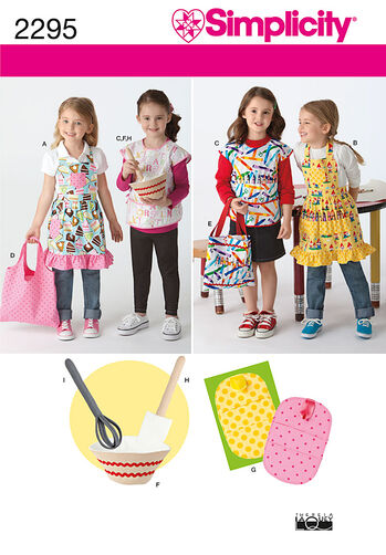 Simplicity Pattern 2295 Child's Aprons & Accessories