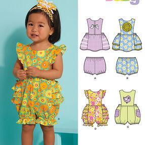 Babies' Dress, Romper & Panties