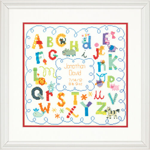 Alphabet Birth Record, Counted Cross Stitch_70-73734