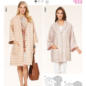 Burda Style Pattern 6802 Jackets, Coats, Vests