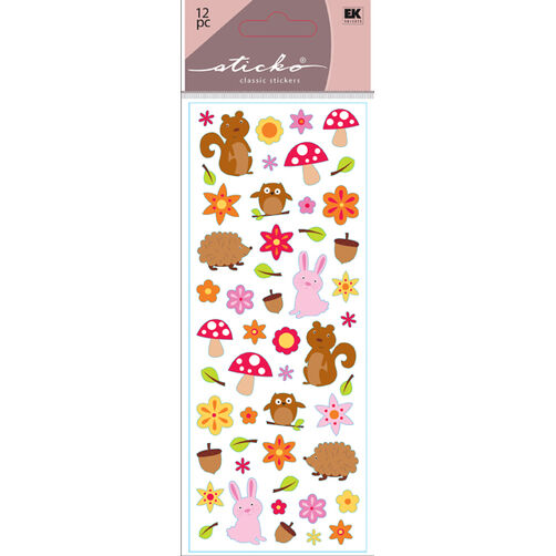 Woodland Animal Stickers_52-30060