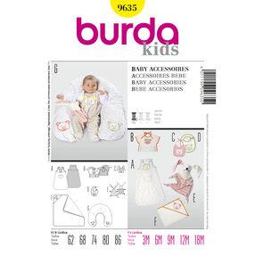 Burda Style Pattern 9635 Baby Accessories