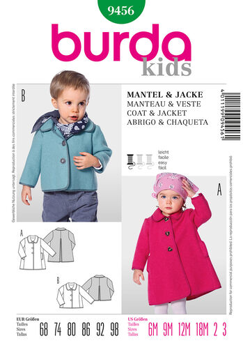 Burda Style Pattern 9456 Coat & Jacket